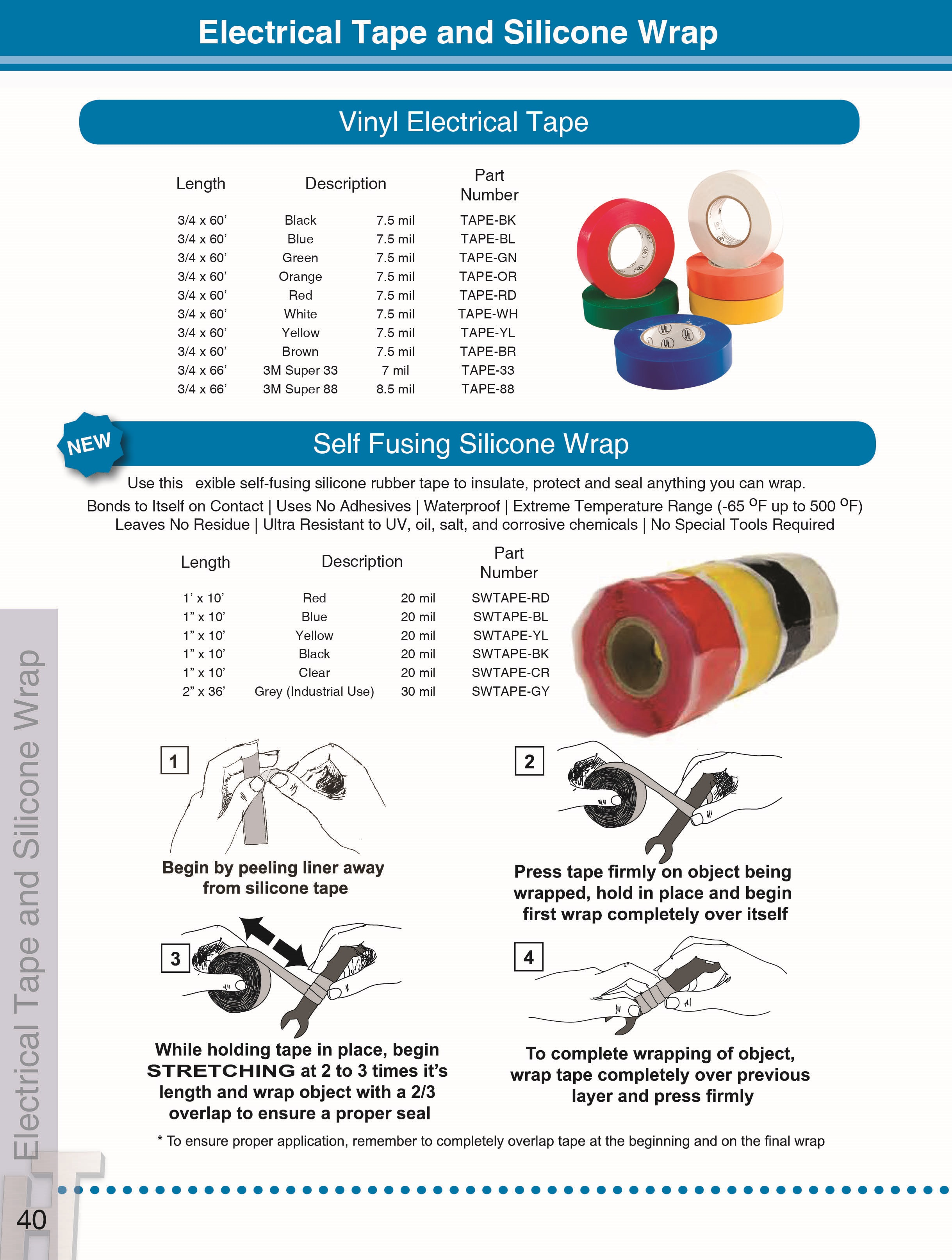 Tape, Electrical and Silicone Wrap - DLP Industries